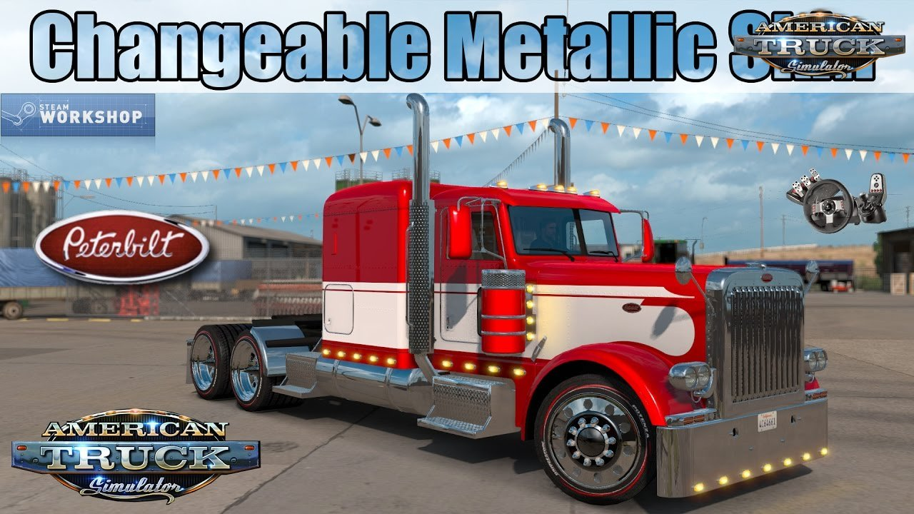 Peterbilt 389 Changeable Metallic Skin - American Truck Simulator