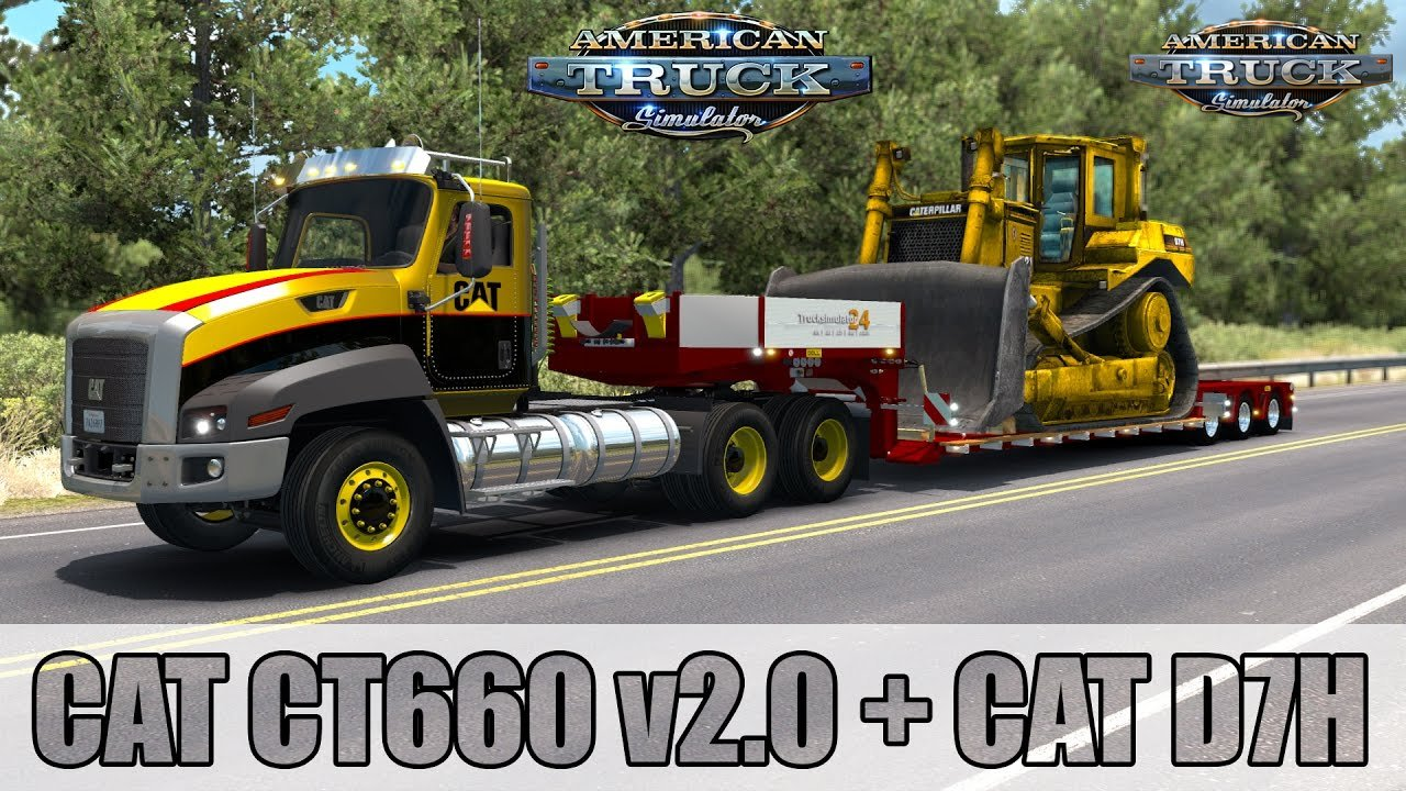 CAT CT660 v2.0 - American Truck Simulator