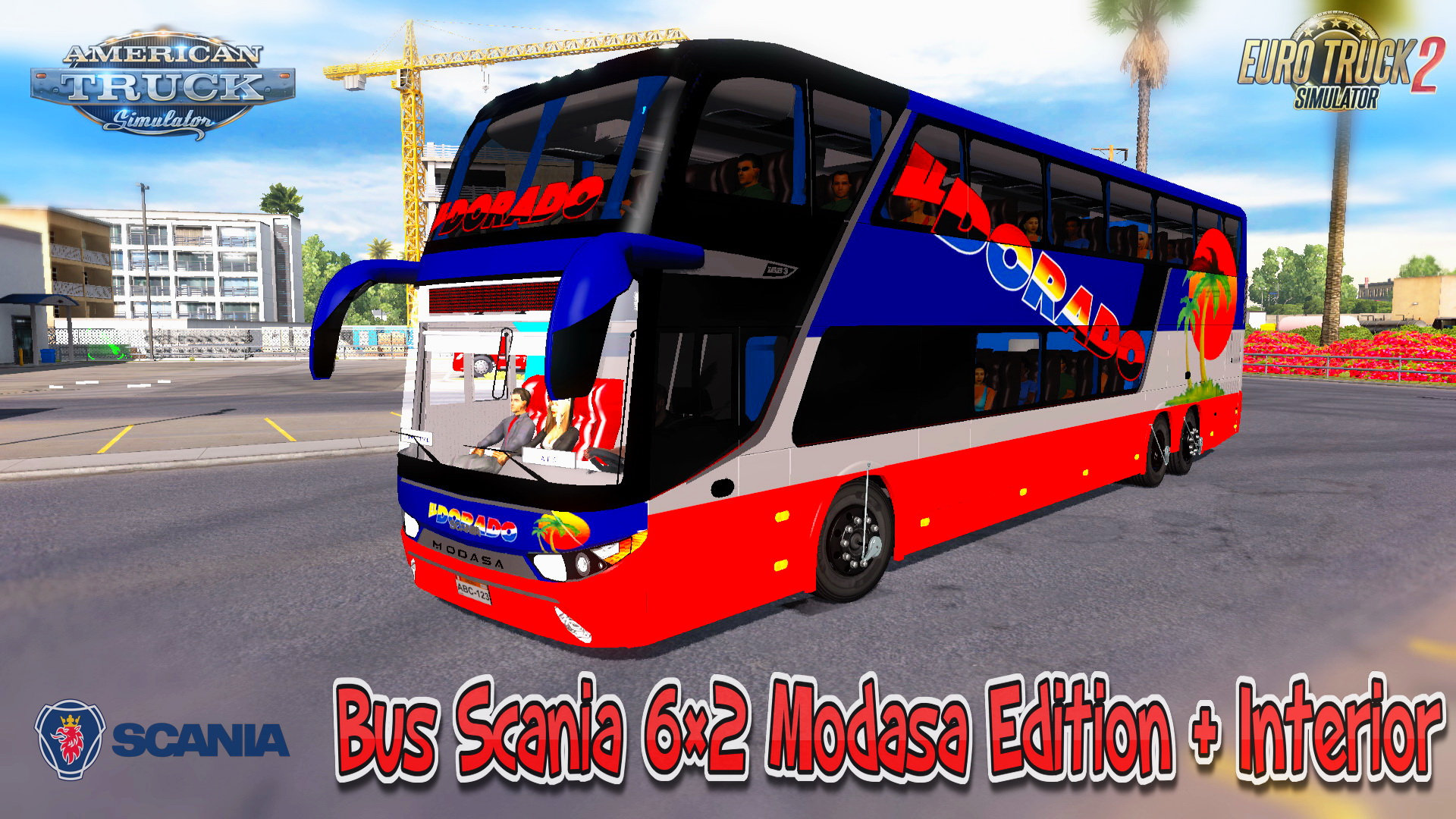 Bus Scania 6×2 Modasa Edition + Interior v1.0 (v1.5.x)