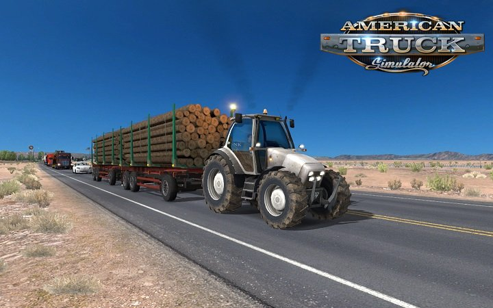Tractor with trailers in traffic for ATS by Piva