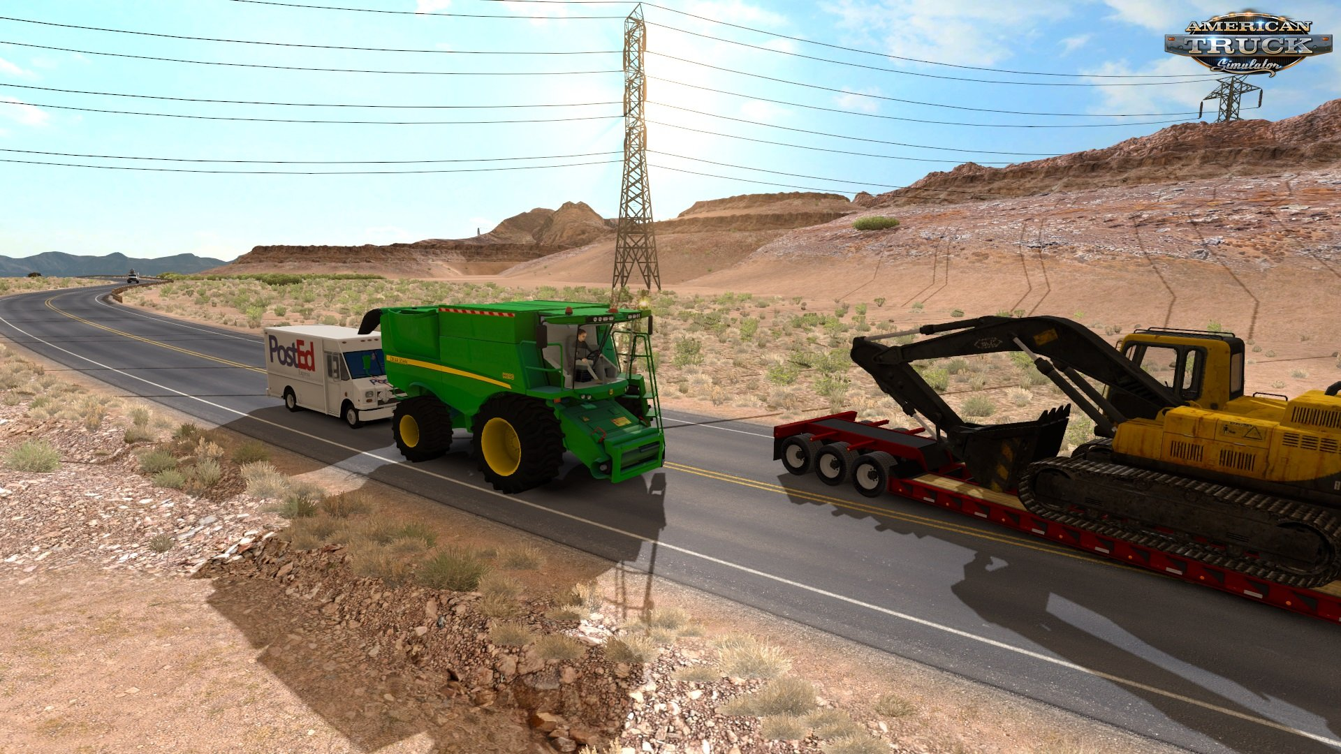Harvester in traffic for ATS by SlavikSD