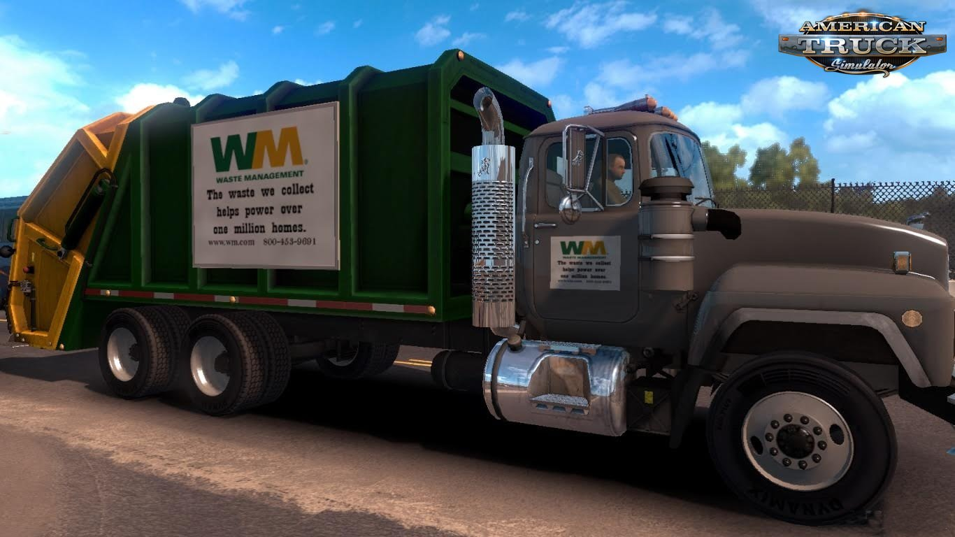 Real Trash truck and taxi for Ats