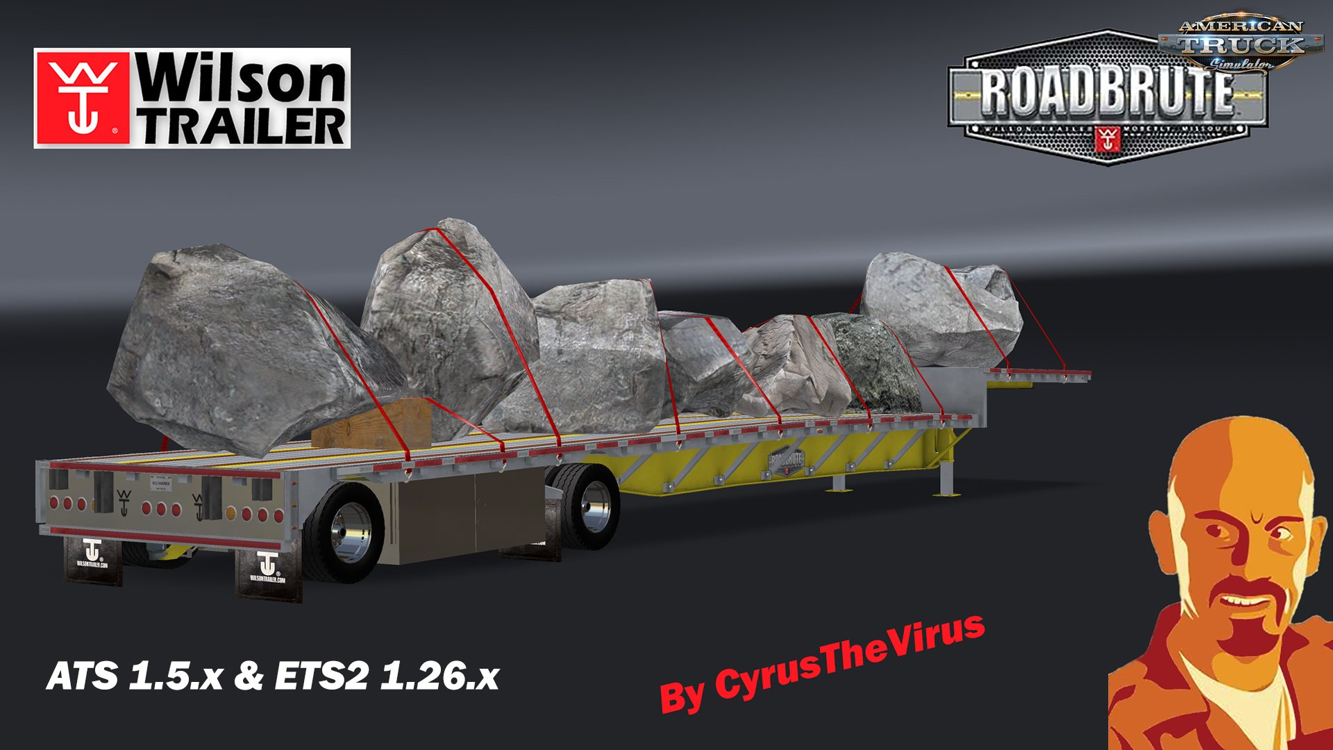 Wilson Dropdeck Trailer + 7 Cargos for Ats [1.5.x]