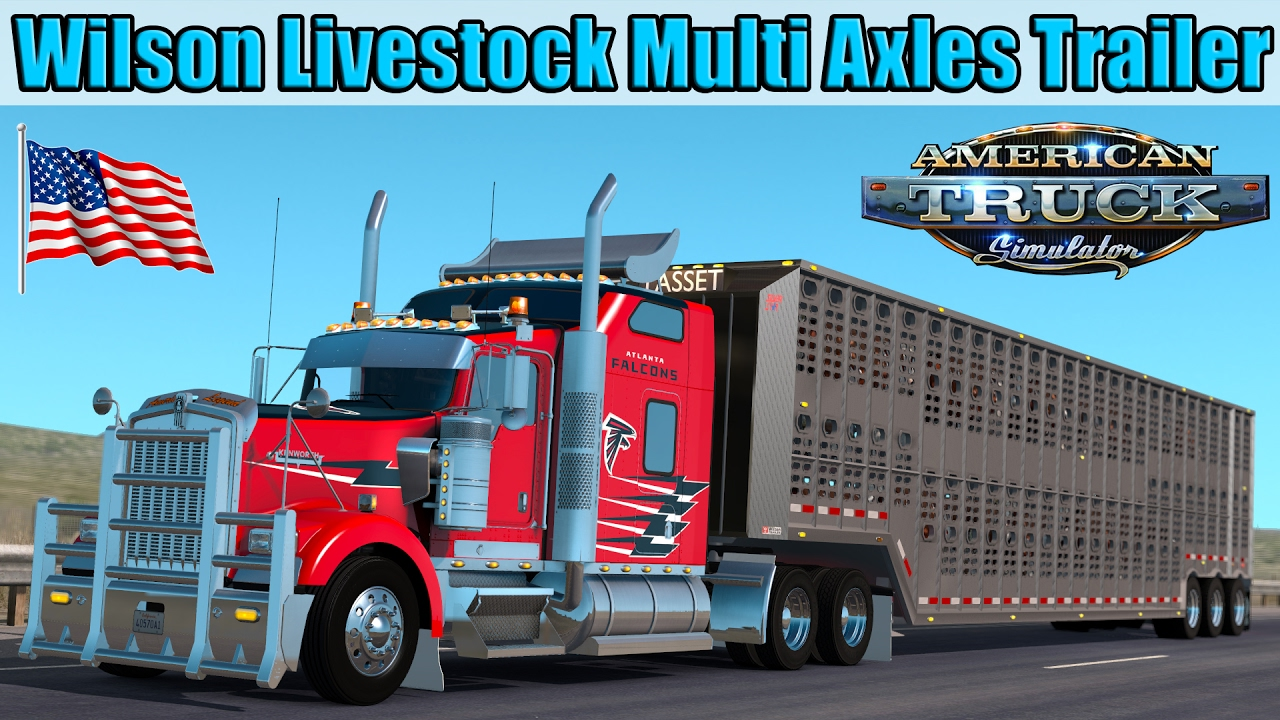 Trailer Wilson Livestock Multi Axles Cattle - American Truck Simulator