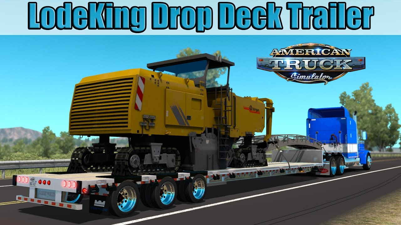 Trailer LodeKing Drop Deck - American Truck Simulator