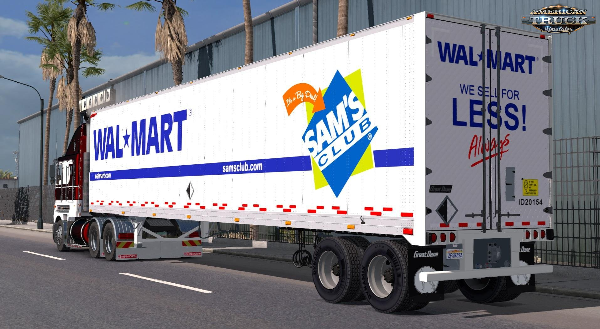 Walmart Great Dane Old Dry Van Skin v1.0 (v1.6.x)