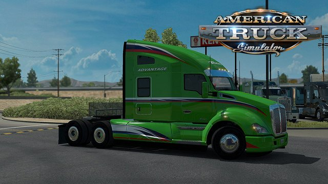 Kenworth T680 Advantage Aerokit v1.6 for Ats