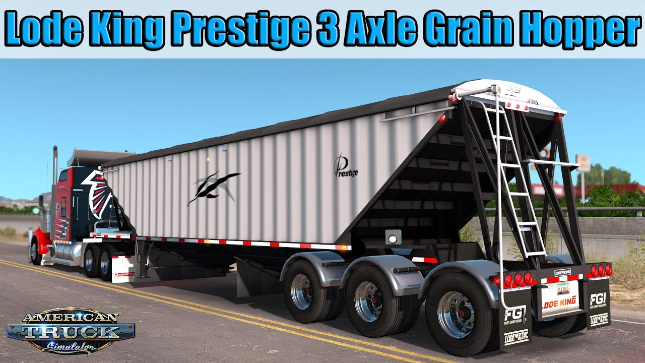 Trailer Lode King Prestige 3 Axle Grain Hopper - American Truck Simulator