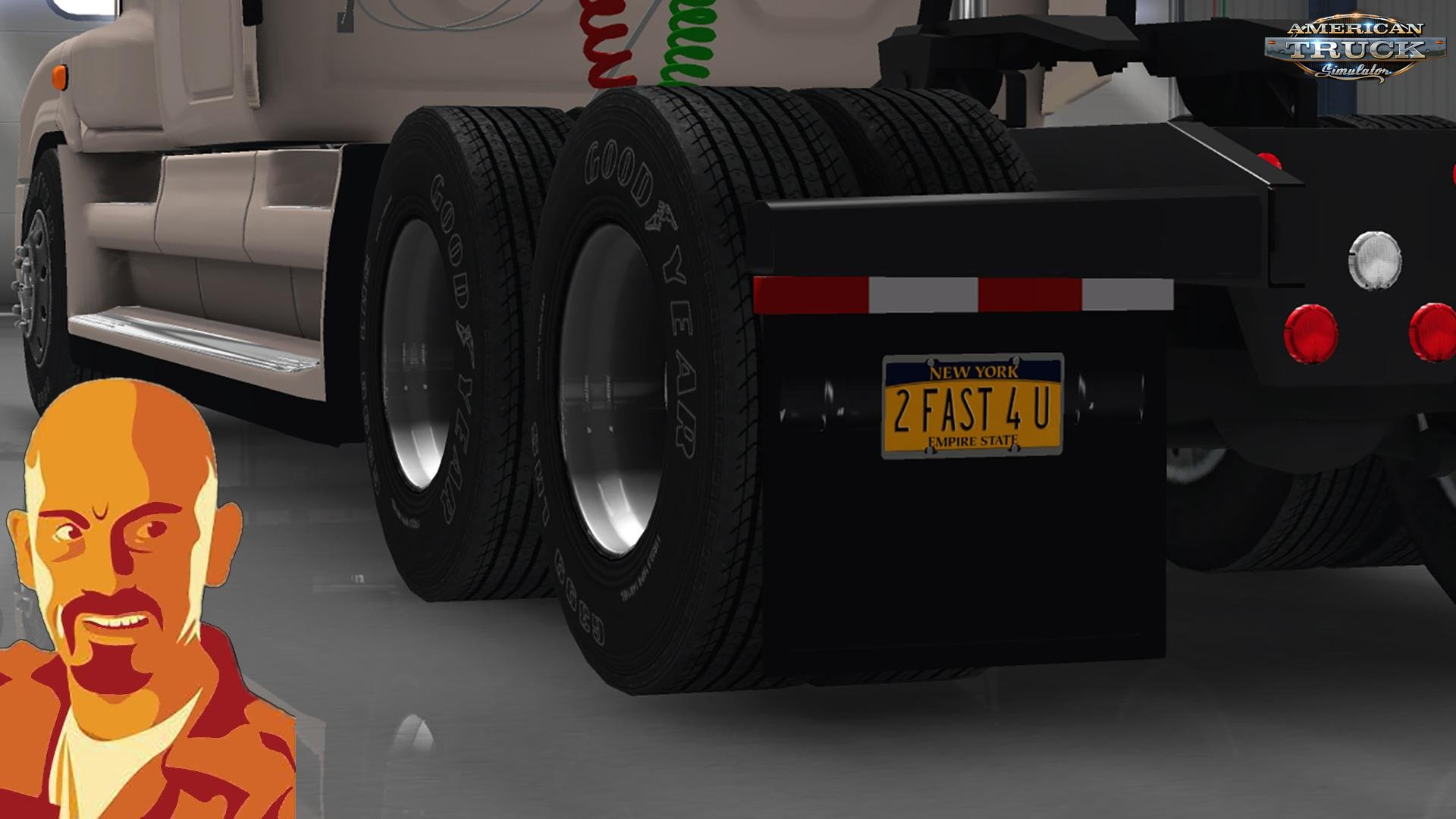 Freightliner Cascadia Custom Plate for Ets2 & Ats