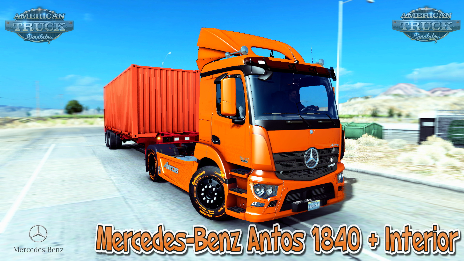 Mercedes-Benz Antos 1840 + Interior v1.0 (Updated) (v1.28.x)