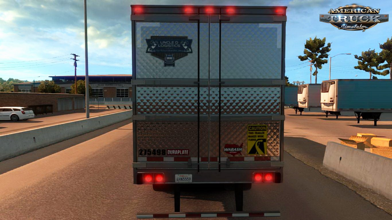 Uncle D Logistics VTC ATS 3000 Stand Alone Reefer Trailer v1.1 (v1.6.x)