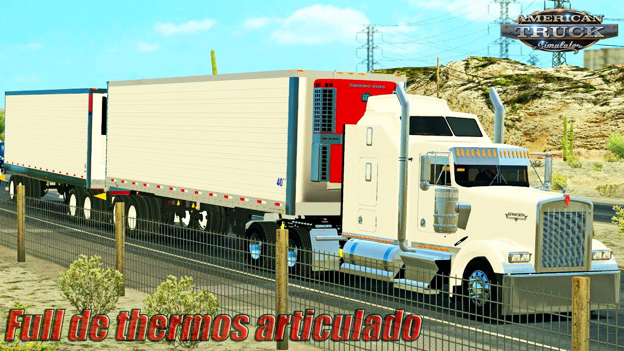 Double Trailer Thermos Utility Reefer v1.0 (v1.6.x)