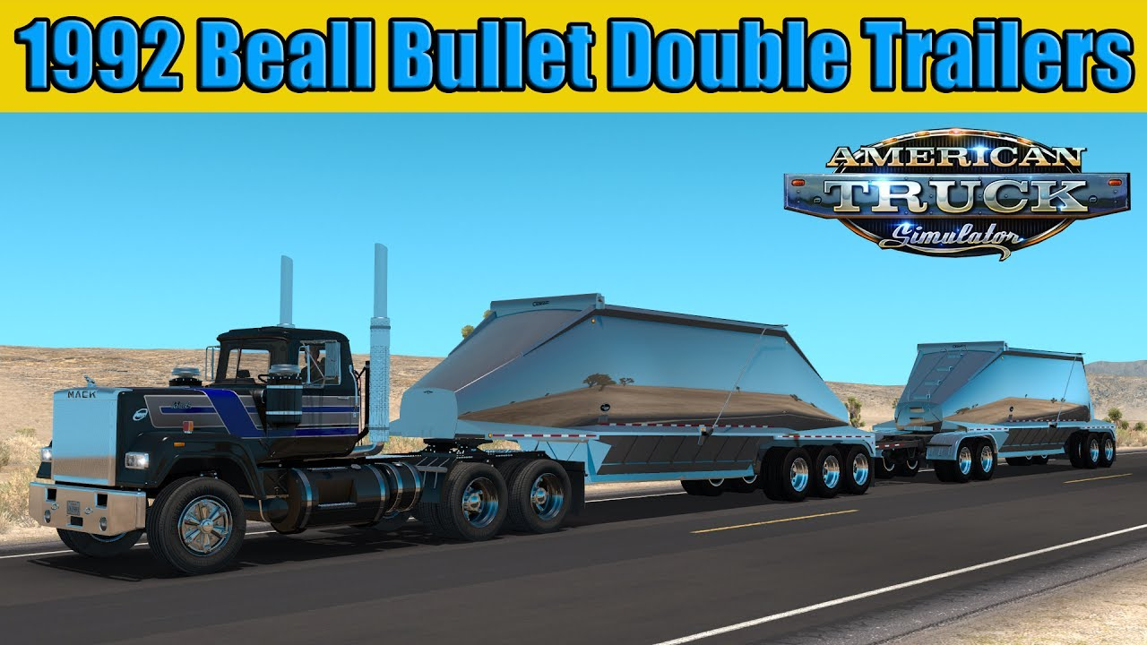 Double Trailers Beall Bullet 1992 - American Truck Simulator