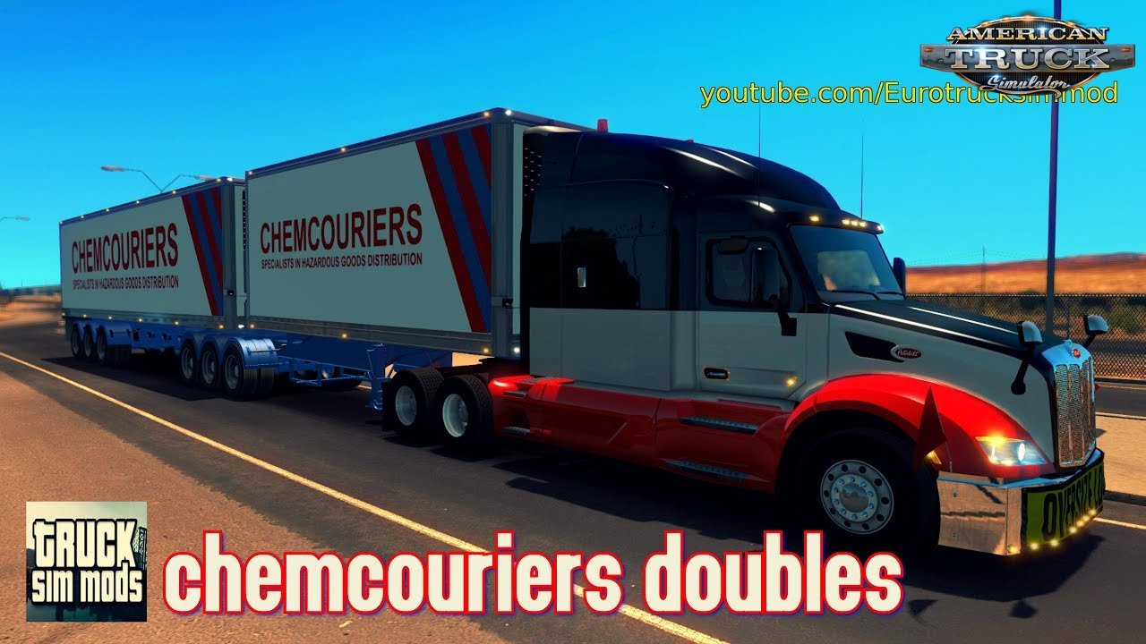Chemcouriers Doubles Trailers (v1.6.x) - American Truck Simulator