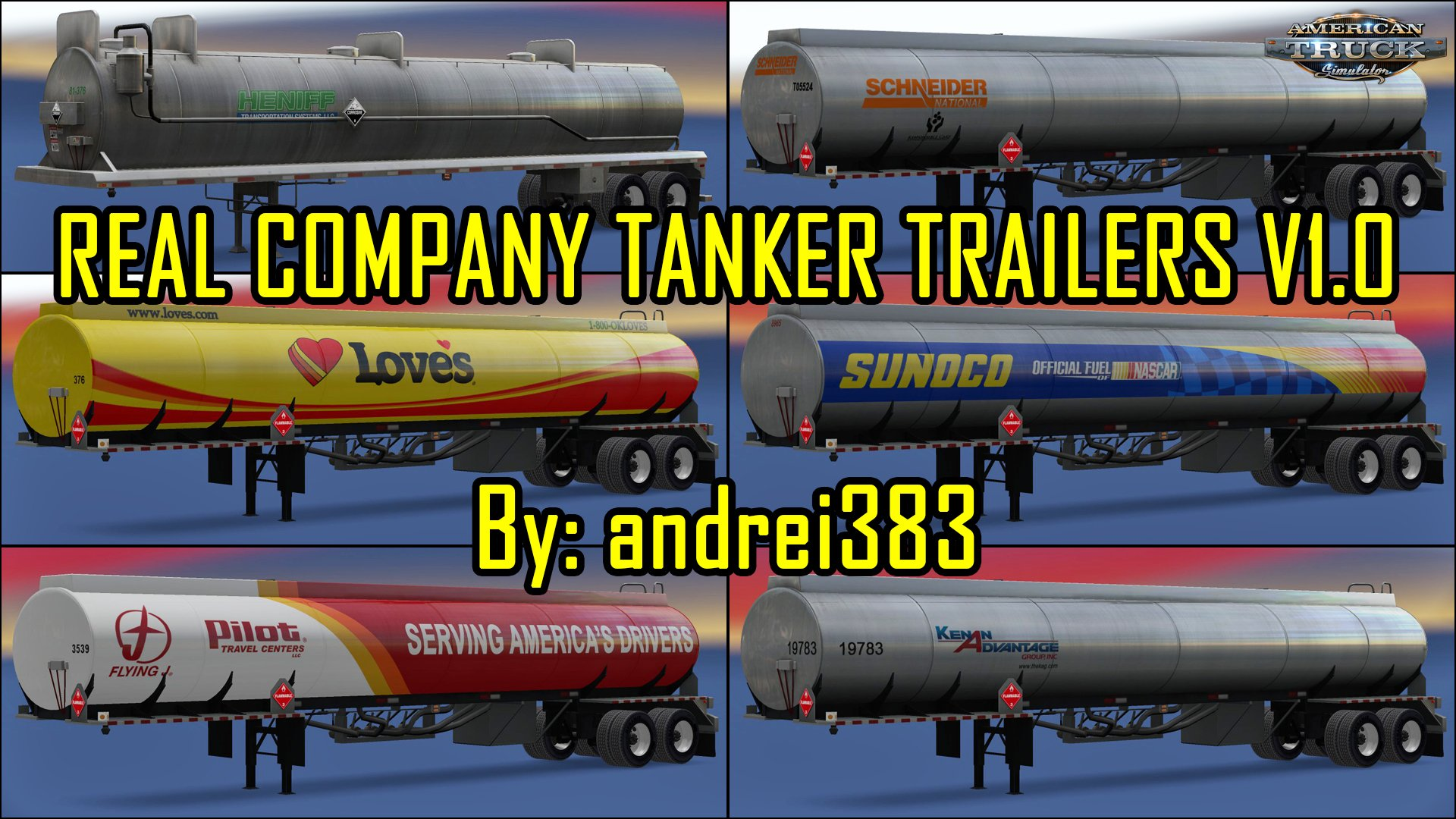 Real Company Tanker Trailers v1.0 by andrei383