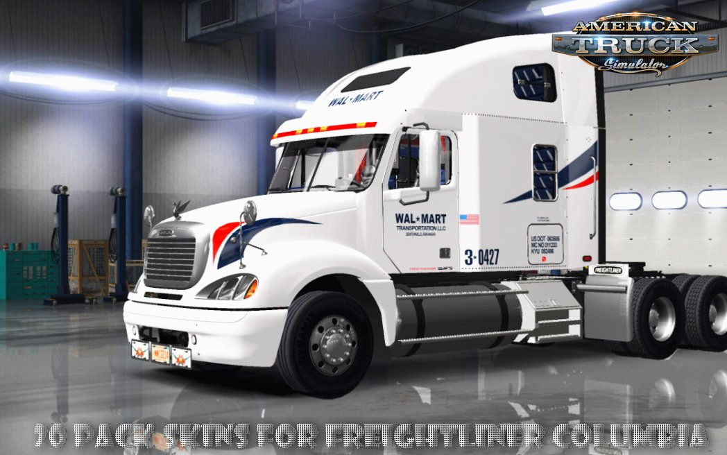 20 Pack Skins for Freightliner Columbia v1.0 (v1.6.x)