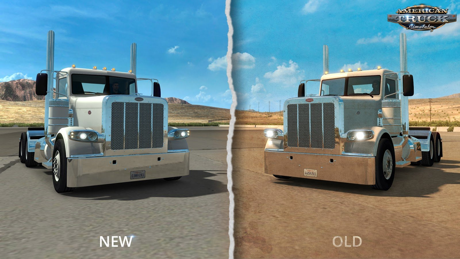 Better light flares for vehicles for American Truck Simulator
