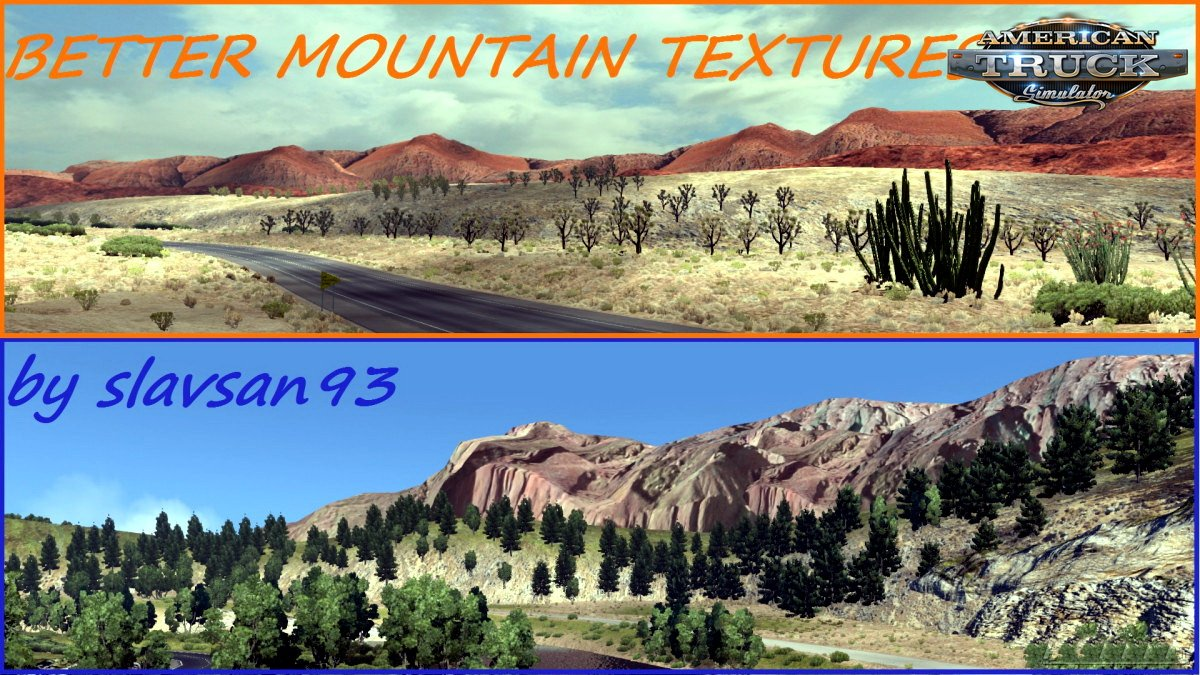 Better Mountain Texture for ATS v2.3 (v1.6.x)