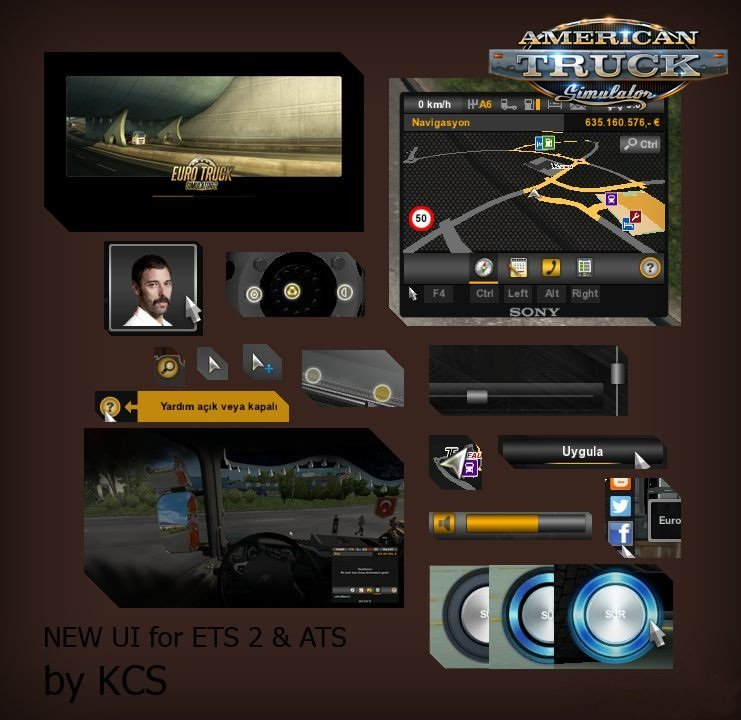 New UI for Ets2 and Ats v1.0 by BCRTVKCS