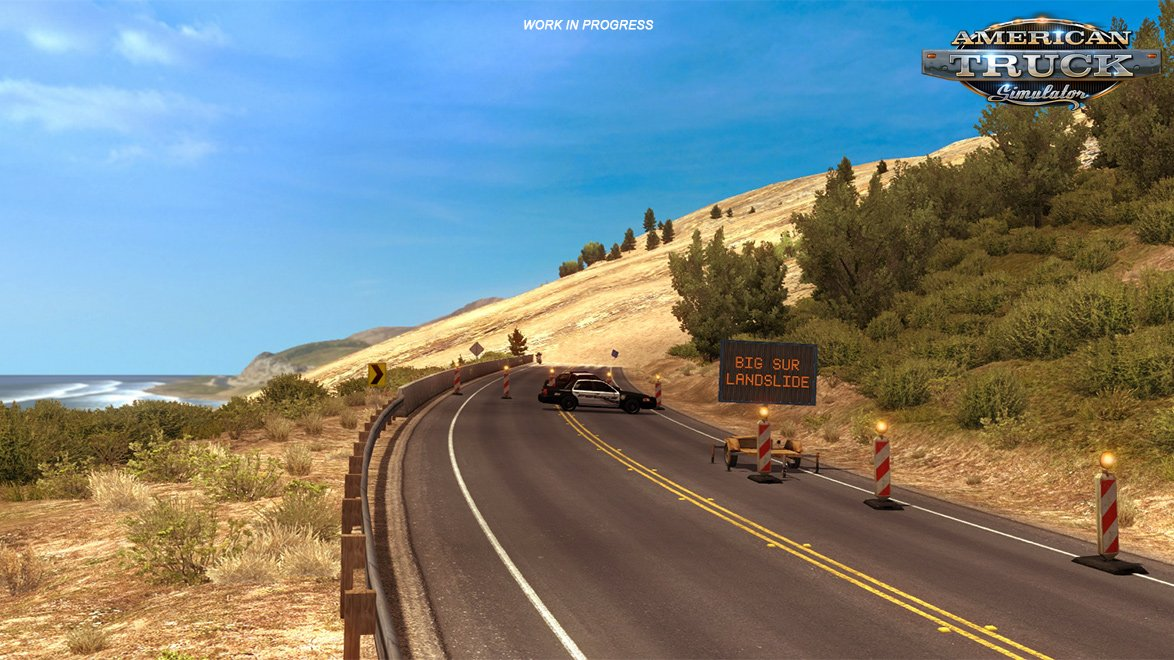 Closing a part of California's Highway 1 in ATS