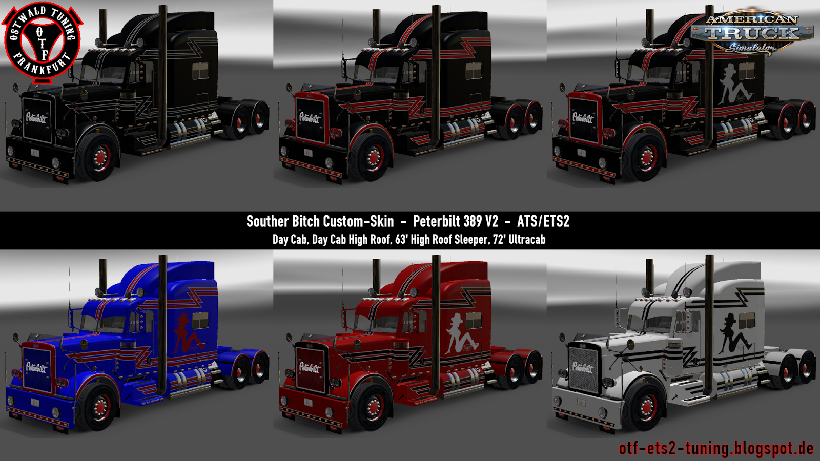 Southern Bitch Custom-Skin for Peterbilt 389 V2 (v1.6.x)
