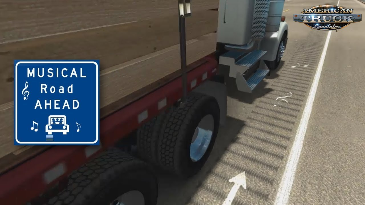 Musical Road in American Truck Simulator