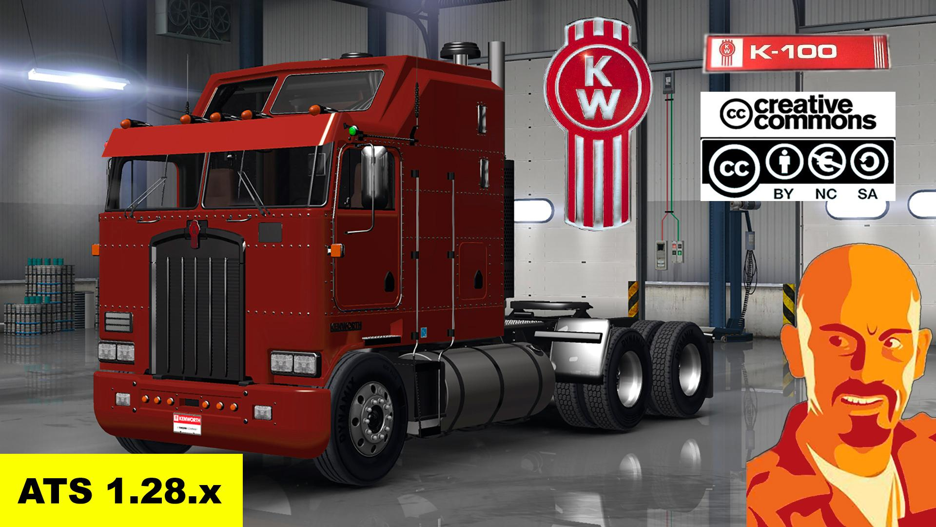 Kenworth K100 + Interior v1.0 by CyrusTheVirus (v1.28.x)