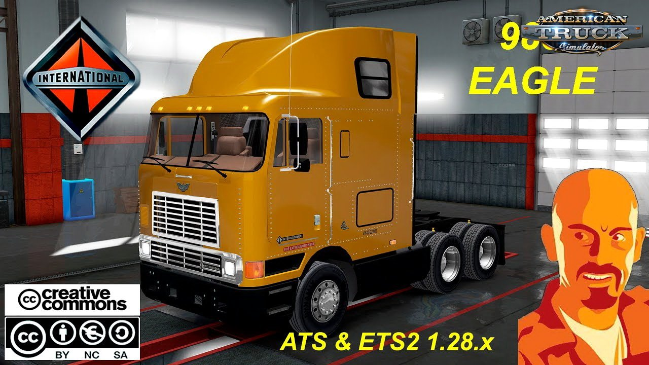 International 9800 Eagle + Interior v1.0 by CyrusTheVirus (1.28.x)