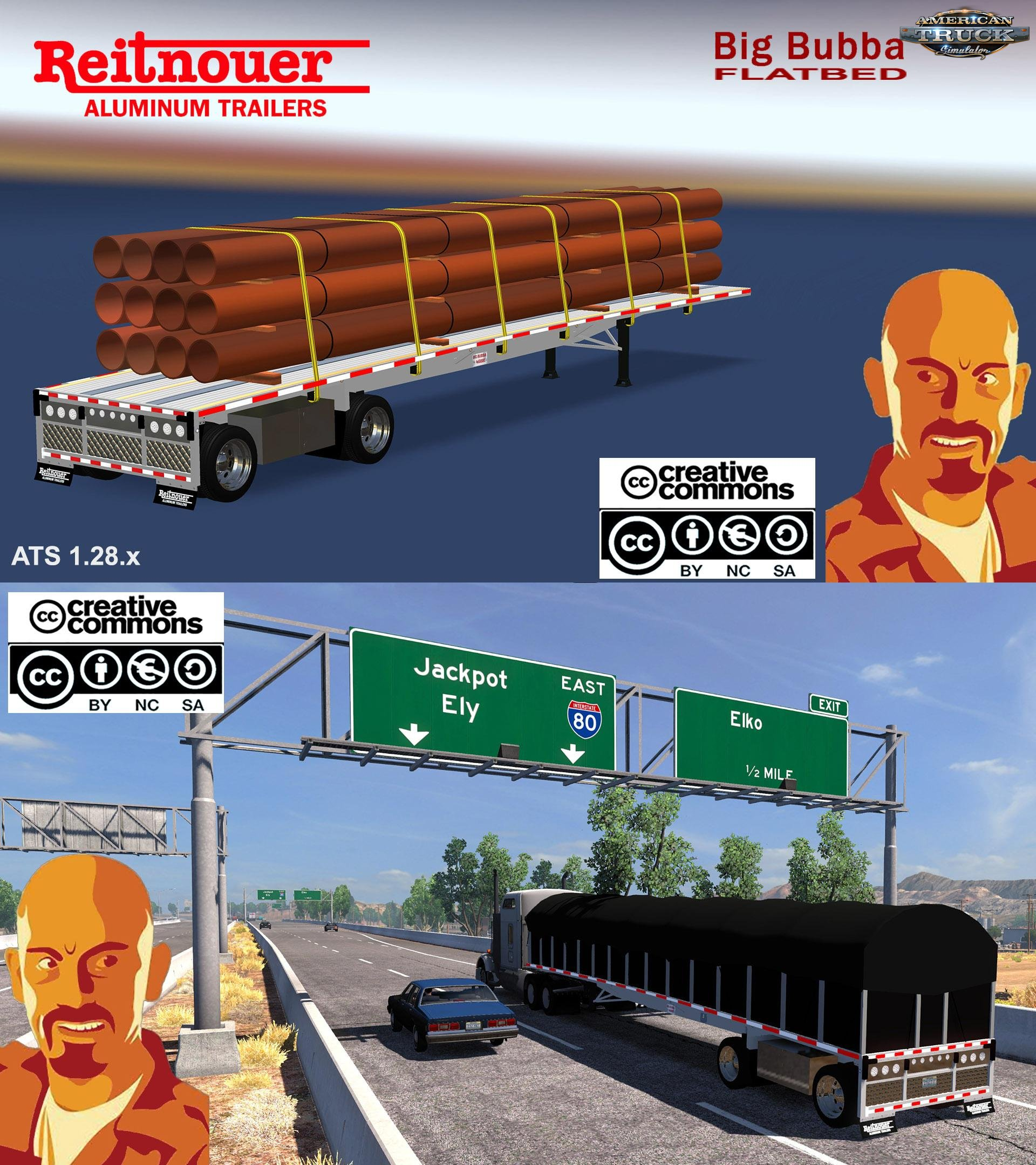 Reitnouer Bigbubba Flatbed Trailer v1.0 (1.28.x)