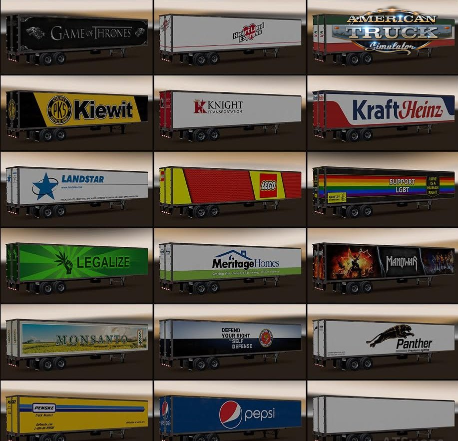 New USA Trailers Pack v2.0 (1.29.x)