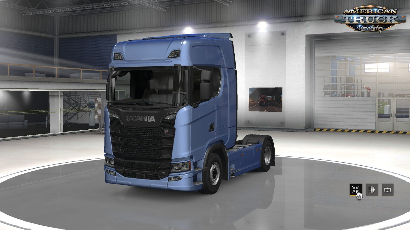Scania Trucks Mod for ATS v2.1 by Frkn64 (1.35.x)