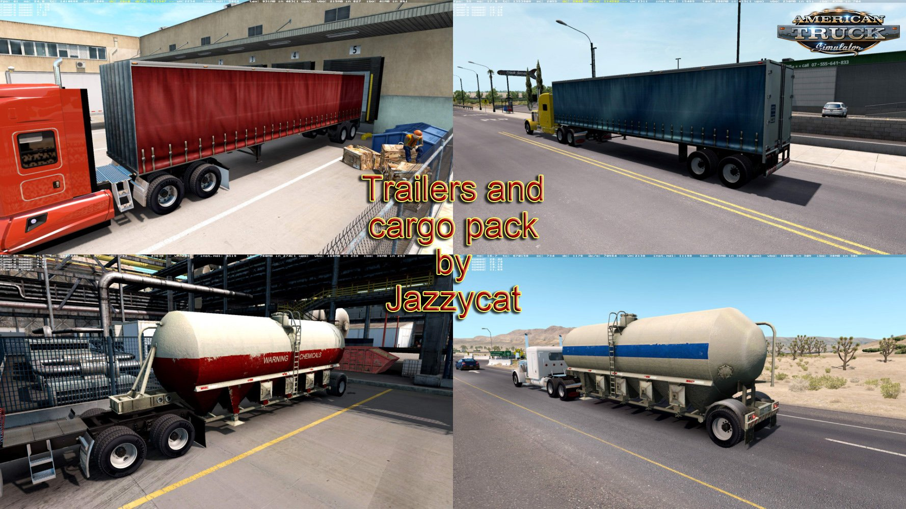 Trailers and Cargo Pack v1.8 by Jazzycat