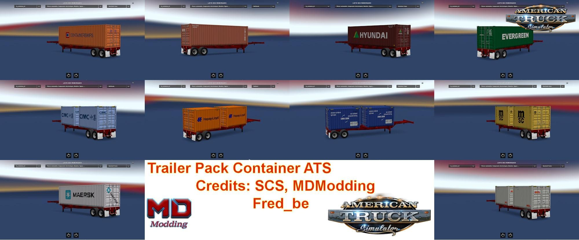Trailer Pack Container v1.29 for Ats