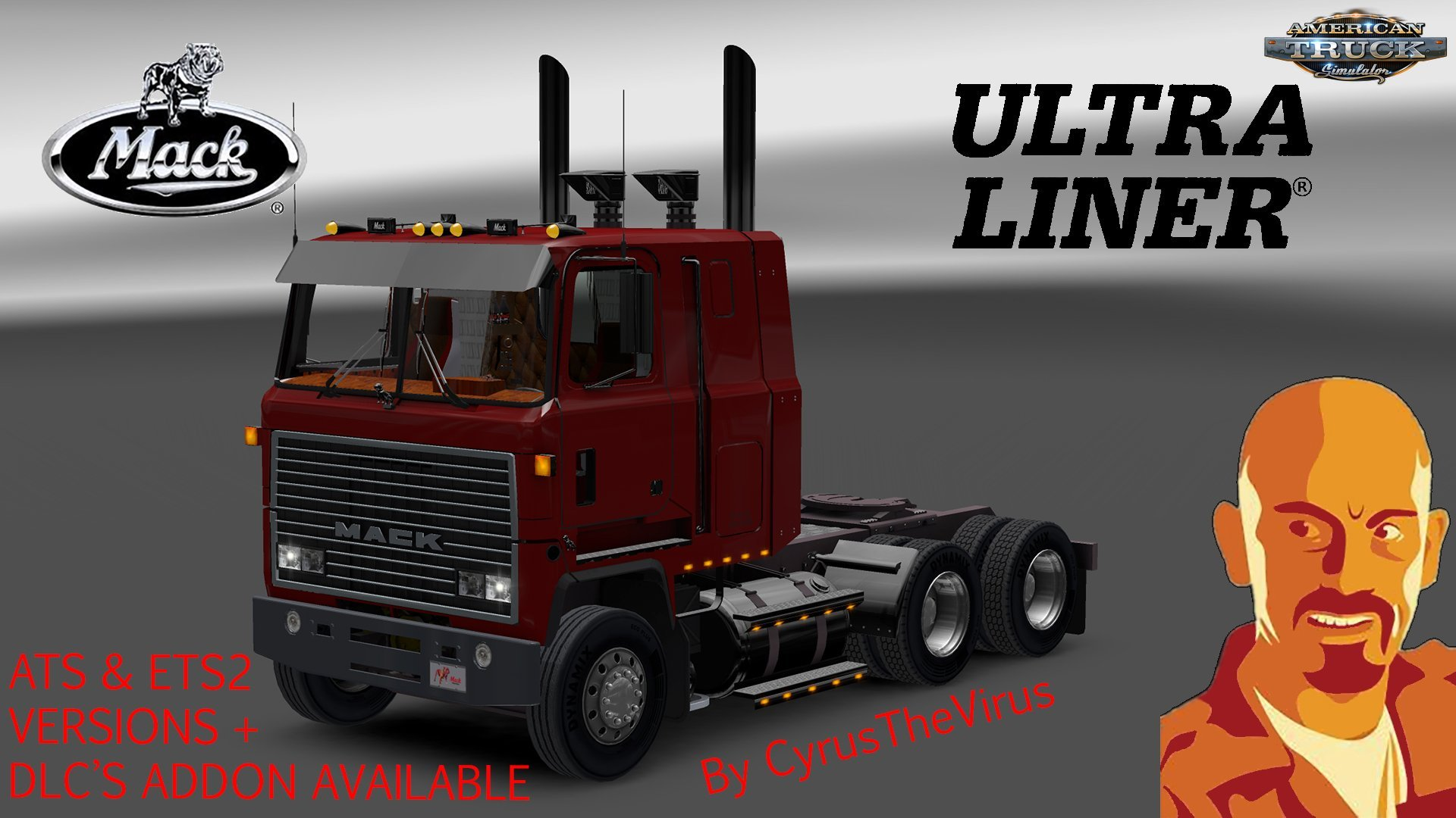 Mack Ultraliner + Interior v1.0 by CyrusTheVirus (1.30.x)