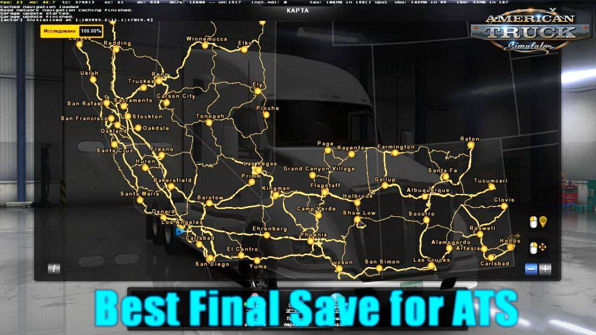 Best Final Save for ATS v1.0 by Denrus (1.29.x)