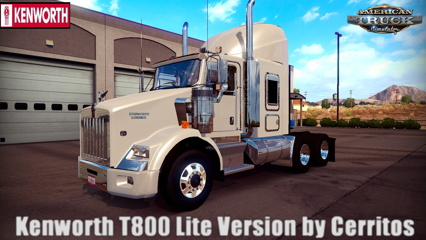 Kenworth T800 Lite Version v1.0 by Cerritos (1.29.x)