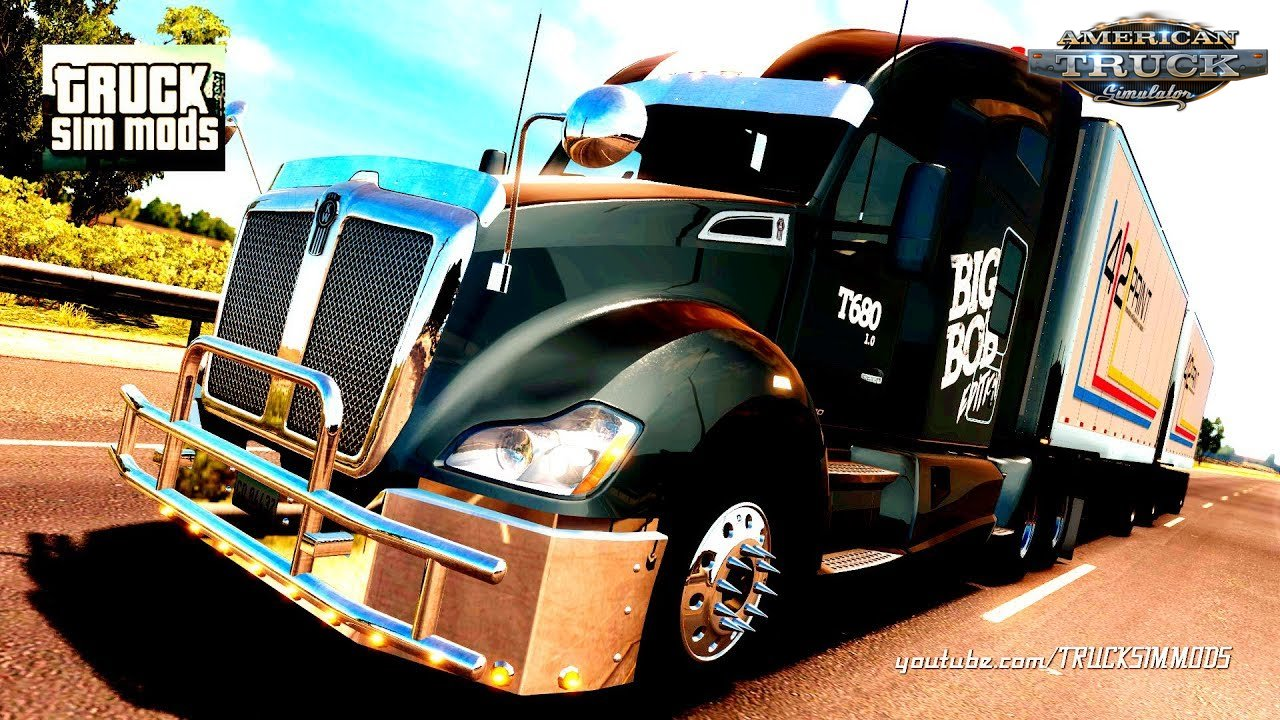Kenworth T680 Big Bob Edition v1.0 (1.29.x) - American Truck Simulator