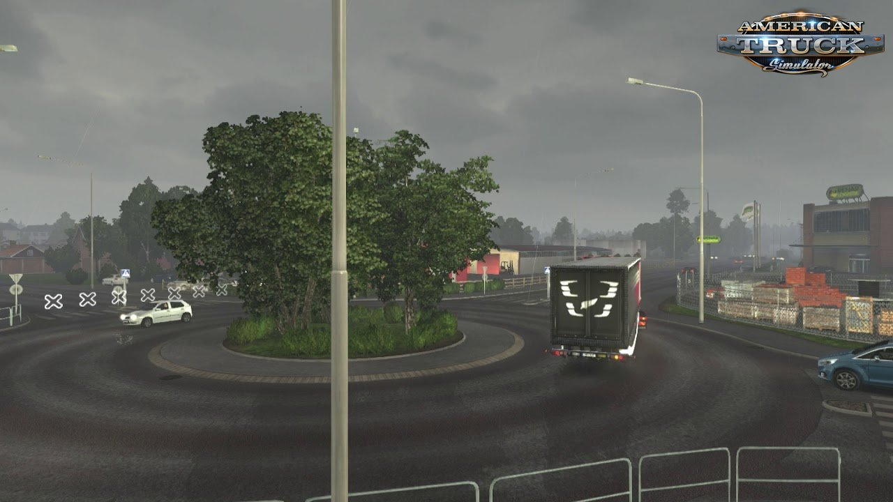 Less rain strips for Ats and Ets2