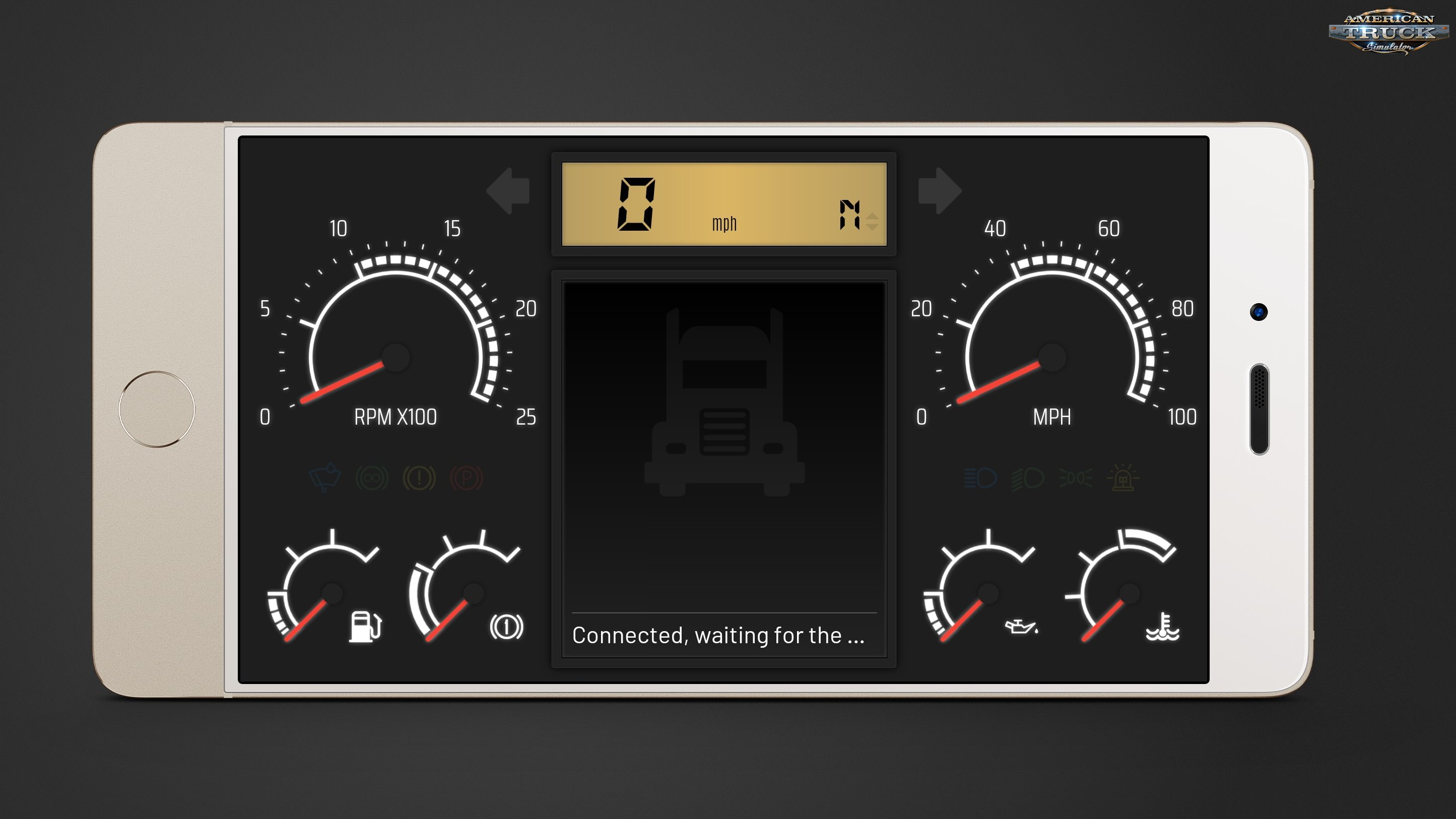 New Dashboard Skin (Telemetry Web Server) for Ats and Ets2 » ATS