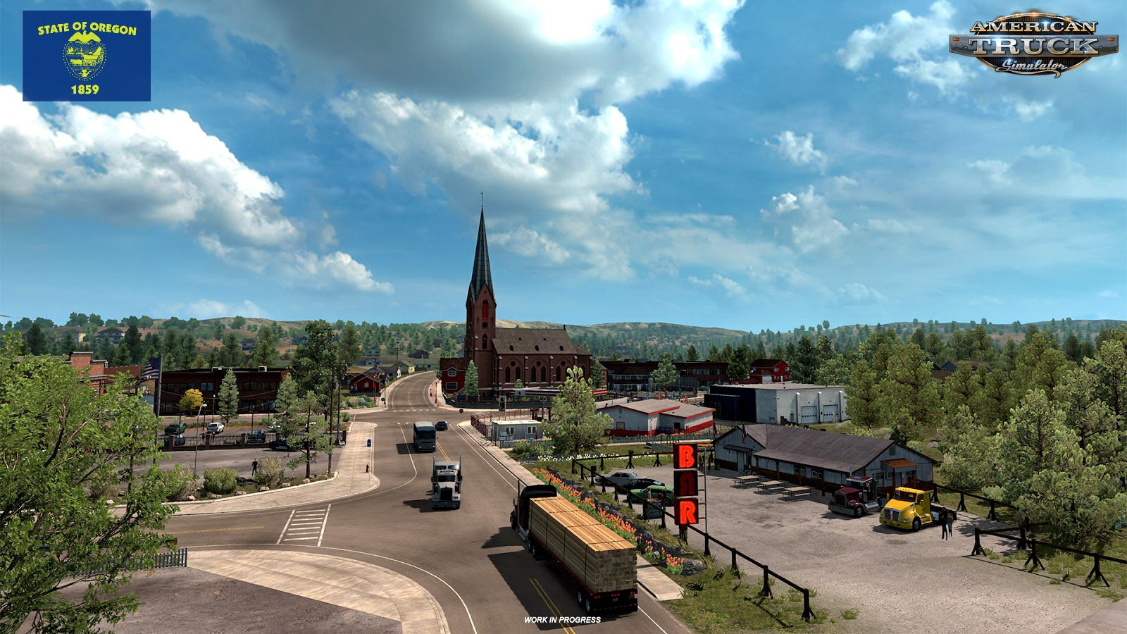 Oregon, the Beaver State - work in progress for American Truck Simulator