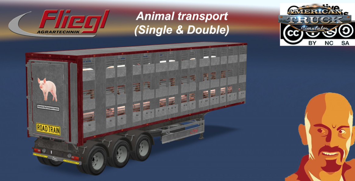 Fliegl Animal Transport Trailer (Single & Double) v1.0 (1.30.x)