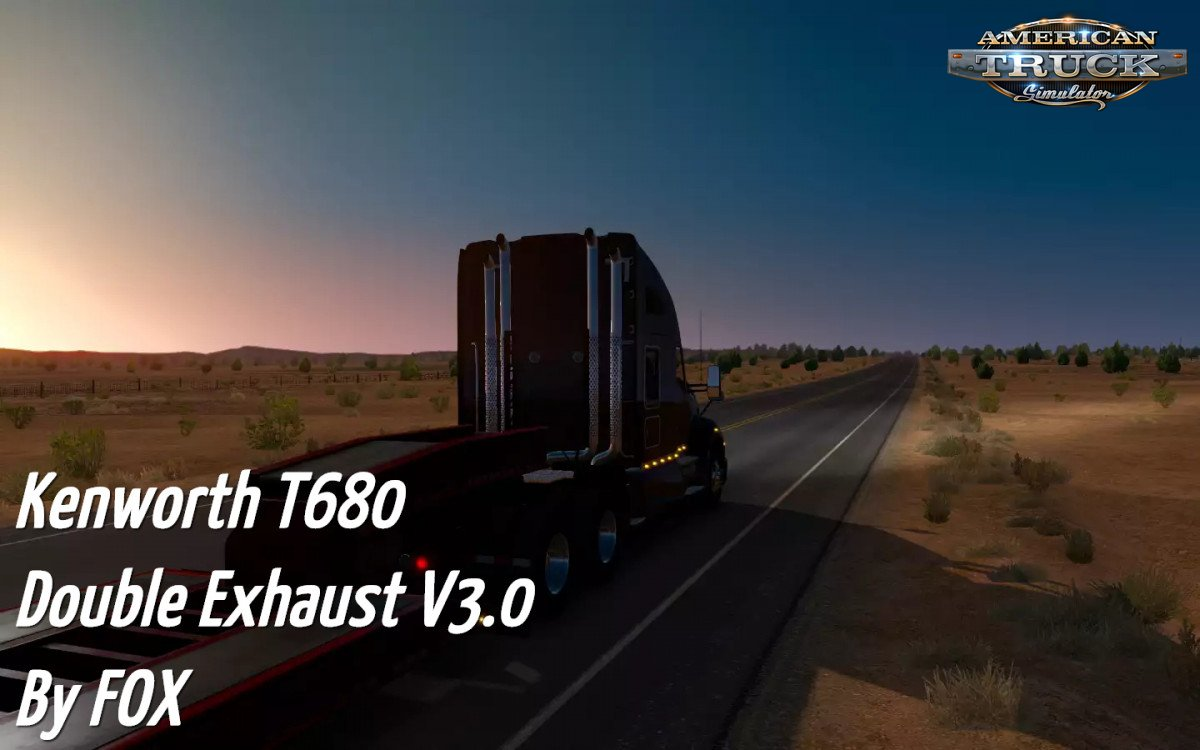 Kenworth T680 Double Exhaust SP/MP v3.0 (v1.30.х)