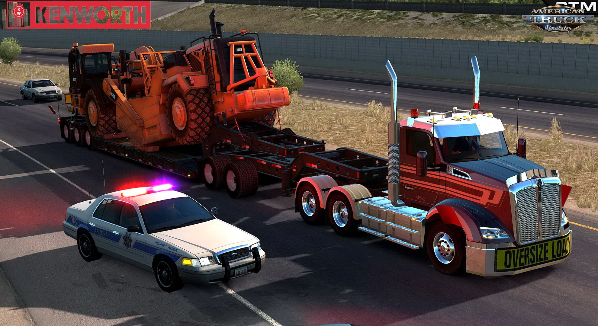 Kenworth T610 + Interior v1.0 by GTM Team (Updated) (1.35.x)