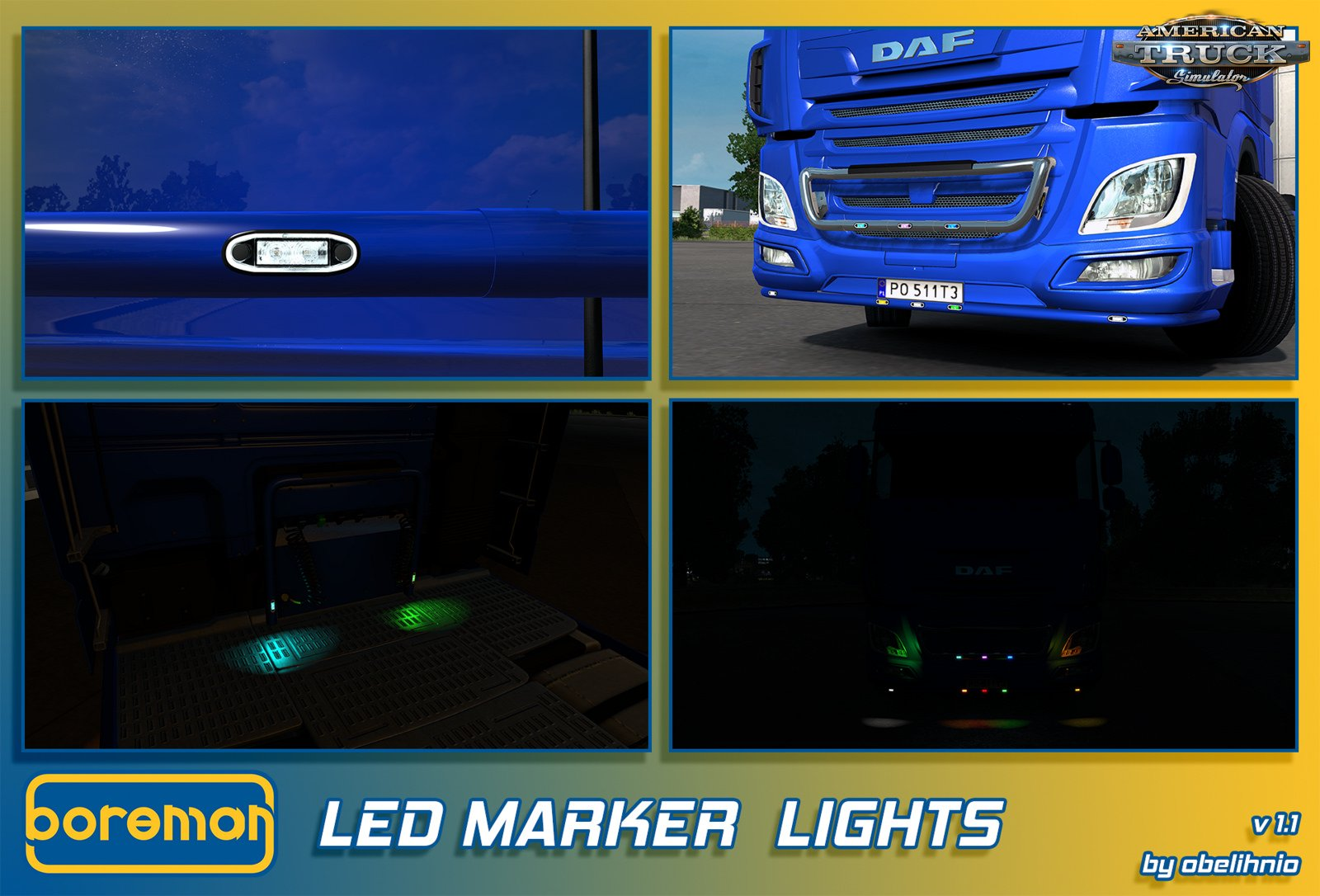 Boreman LED Marker Lights v1.1 by obelihnio