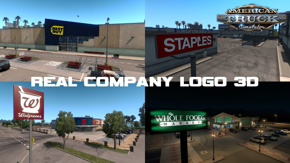 Real Company Logo 3D v1.5 by P16 (1.35.x) for ATS