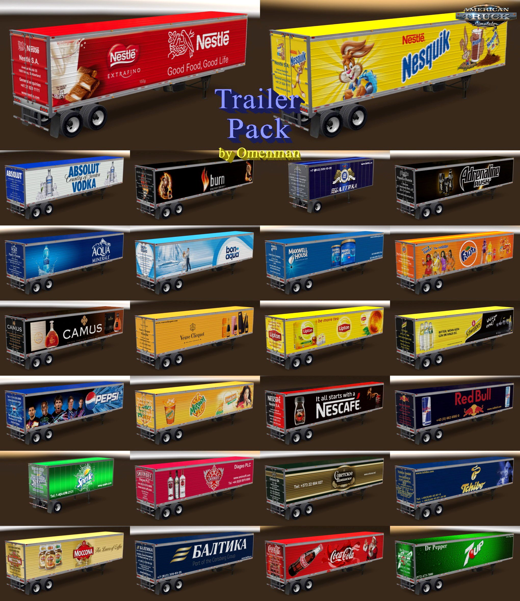 Trailer Pack Drinks v2.0 by Omenman (1.30.x)
