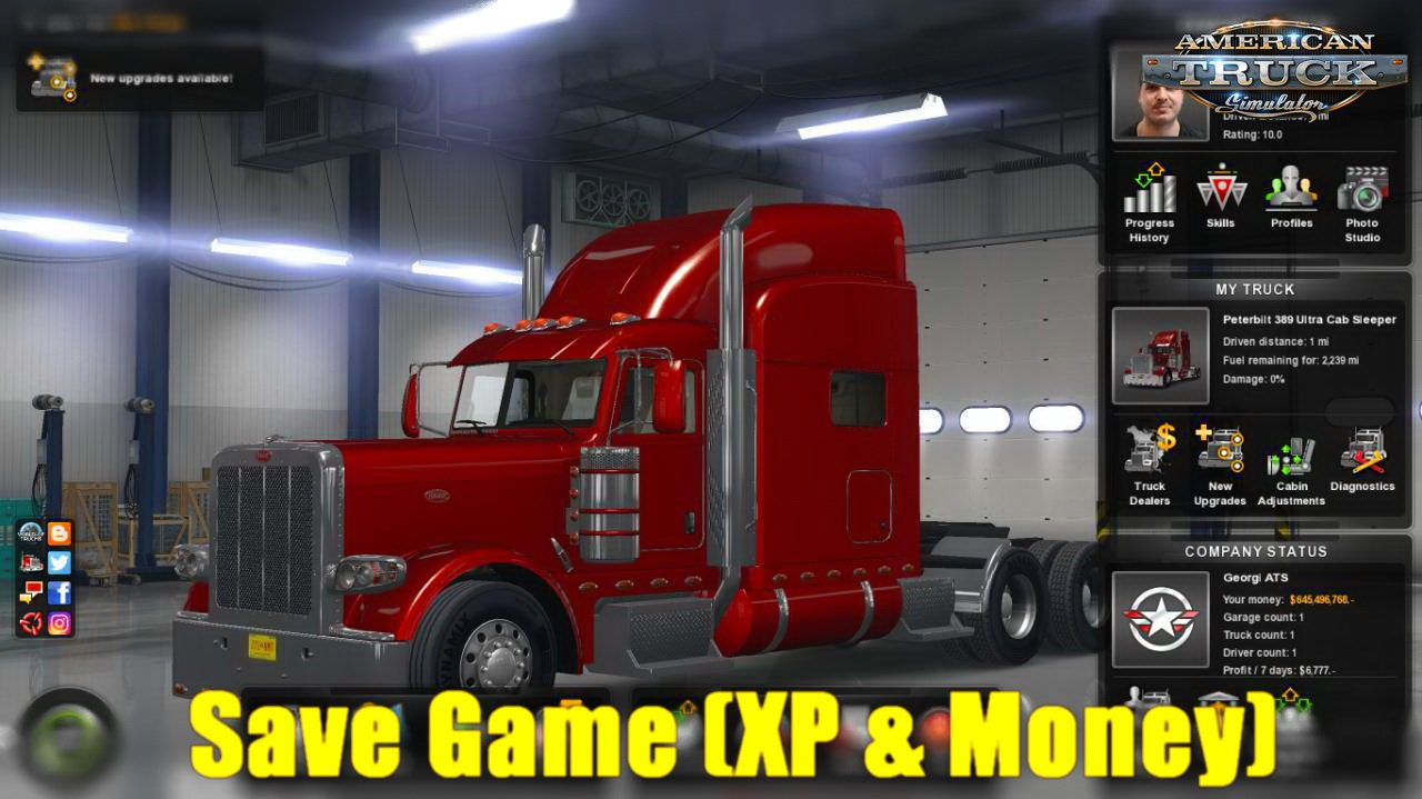 Save Game (XP & Money) v1.0 by Georgi ATS (1.30.x)