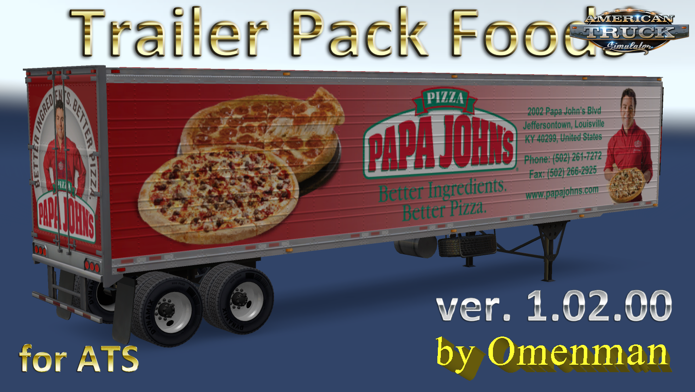 Trailer Pack Foods v 1 02 00 for Ats » ATS mods | American