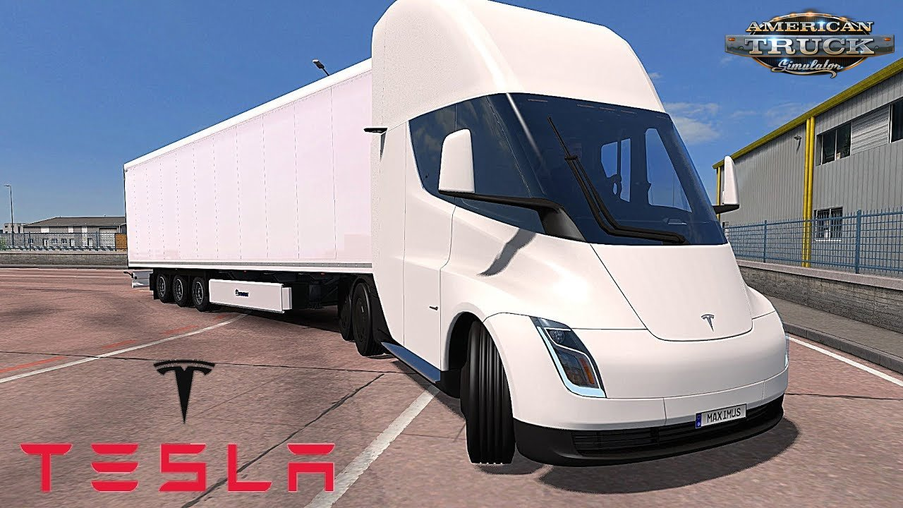 Tesla Semi Truck 2019 + Trailer v1.0 (1.35.x) for ATS