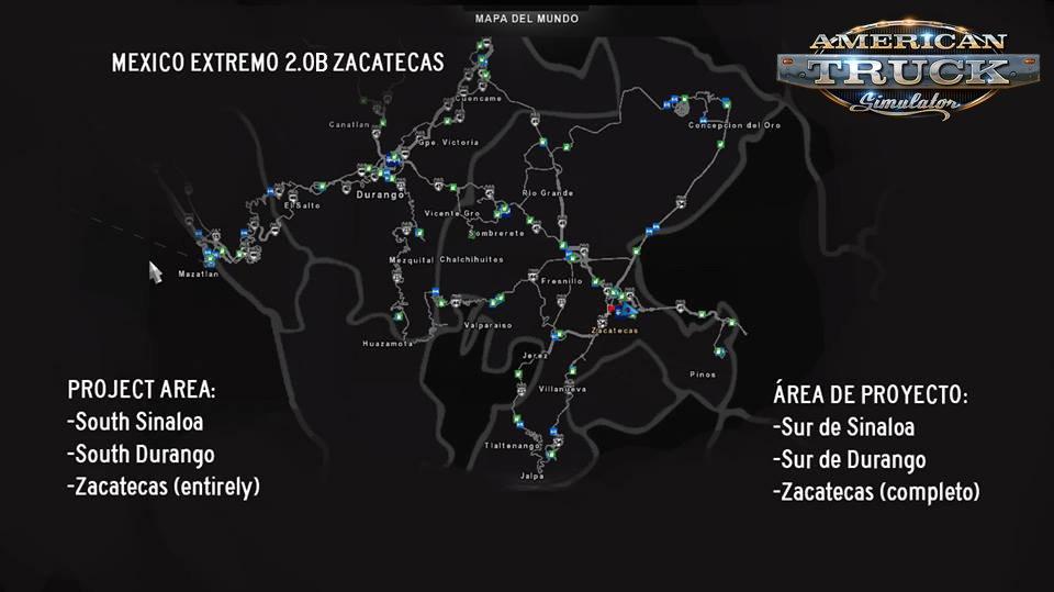 Mexico Extremo Zacatecas v.2.0B for ATS [1.31.x]